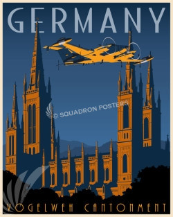 Kaiserslautern military community - Germany Germany_RC-12_SP00756-featured-aircraft-lithograph-vintage-airplane-poster-art