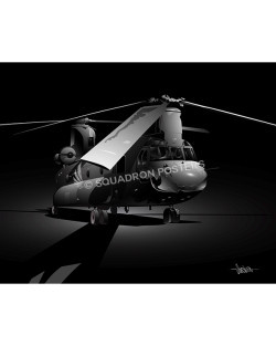 CH-47 Jet Black Lithograph H-47 Jet Black SP01060-poster-jet-black-aircraft-lithograph