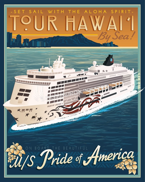 Hawaii_Pride_of_America_Cruise_Liner_SP00745_featured-vacation-lithograph-vintage-poster-art