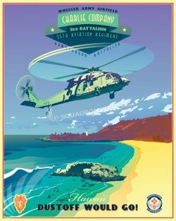 Wheeler Army Airfield C Co 3-25th AVN REG Hawaii_UH-60_C_Co_3-25_AVN_SP01338-featured-aircraft-lithograph-vintage-airplane-poster-art