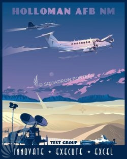 Holloman AFB Test Group Holloman_AFB_New_Mexico_C-12_T-38_SP01379-featured-aircraft-lithograph-vintage-airplane-poster-art
