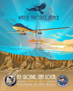 Holloman MQ-1 Predator SP00736 featured-aircraft-lithograph-vintage-airplane-poster-art