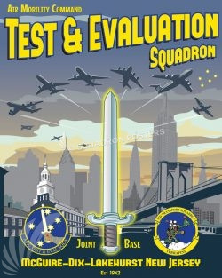 Air Mobility Command Test and Evaluation Squadron JB-MDL_AMC_Test_Sq_SP01340-featured-aircraft-lithograph-vintage-airplane-poster-art