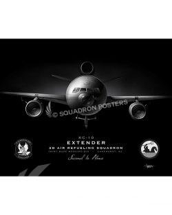 KC-10 2 ARS Jet Black Lithograph JB McGuire-Dix 2D ARS KC-10 SP01305-FEAT-jet-black-aircraft-lithograph-art