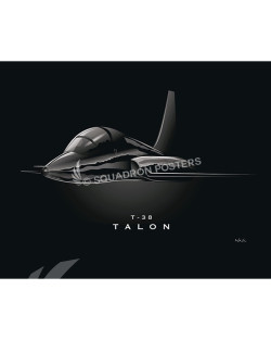 JET BLACK T-38 Talon SP00968-FEAT-jet-black-aircraft-lithograph-art