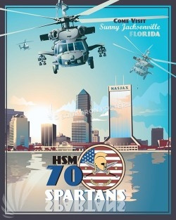 Jacksonville HSM-70 SP00613-vintage-military-aviation-travel-poster-art-print-gift