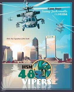 Jacksonville MH-60R HSM-48 SP00524-vintage-military-aviation-travel-poster-art-print-gift