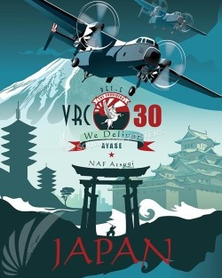 Japan C-2A VRC 30 Det 5 16x20 SP00549-vintage-military-aviation-travel-poster-art-print-gift