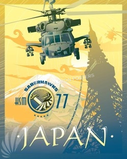 "HSM-77 ""Saberhawks"" NAF Atsugi japan-mh-60r-hsm-77-sp00477-vintage-military-aviation-travel-poster-art-print-gift"