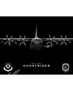 Jet Black AC-130J 1 SOAMXS SP01091-rolled poster-jet-black-aircraft-lithograph