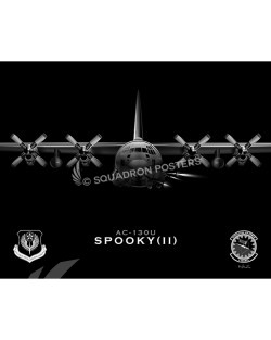 Jet Black AC-130U 1 SOAMXS SP01095-rolled-poster-jet-black-aircraft-lithograph
