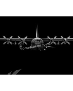 Jet Black AC-130U SP01097-rolled-poster-jet-black-aircraft-lithograph