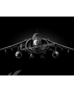 AV-8B Jet Black Lithograph Jet Black AV-8B Harrier SP01413-FEAT-jet-black-aircraft-lithograph-art