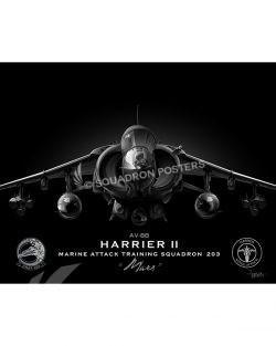 AV-8B VMAT-203 Jet Black Lithograph Jet Black AV-8B mod SP01431-FEAT-jet-black-aircraft-lithograph-art (1)