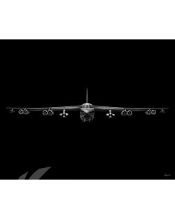B-52 Jet Black Lithograph Jet Black B-52 AGM-86B v2 SP01445-FEAT-jet-black-aircraft-lithograph-art