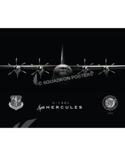 Jet Black C-130J Super Herc SP00946-FEAT-jet-black-aircraft-lithograph-print