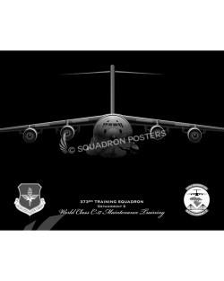C-17 jet black 373rd TRS poster art