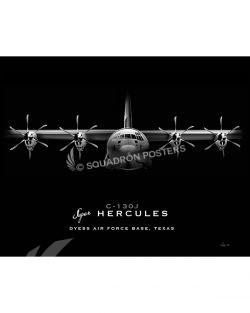 Dyess AFB C-130J Jet Black Lithograph Jet Black Dyess AFB C-130J SP01324-FEAT-jet-black-aircraft-lithograph