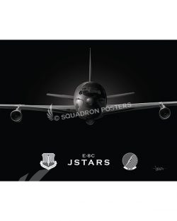 Jet Black E-8C JSTARS 16 ACCS 20x16 Max Shirkov SP01547MFEAT-jet-black-aircraft-lithograph