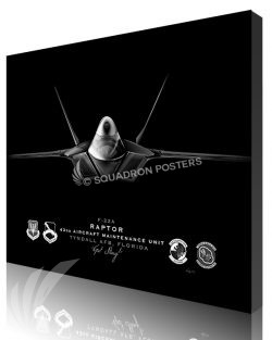 Jet Black F-22 Tyndall AFB 43d AMXS ModifySB SP01568-featured-canvas-lithograph-art