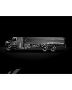 Fuel Truck Jet Black Lithograph Jet Black Fuel Truck SP01458-FEAT-jet-black-aircraft-lithograph-art