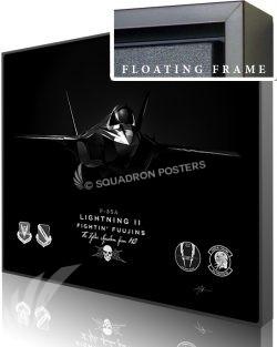 Jet Black Hill AFB F-35 4th FS 20x16 FINAL modifySB SP01577M-featured-canvas-framed-aircraft-lithograph