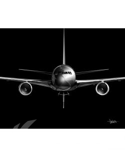 KC-46 Jet Black Lithograph military aviation poster art