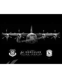C-130J 815 Jet Black Keesler AFB C-130J 815 AS SP01464-FEAT-jet-black-aircraft-lithograph