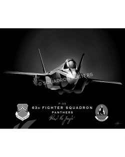 Jet Black Luke AFB F-35 63d FS SP01514-FEAT-jet-black-aircraft-lithograph