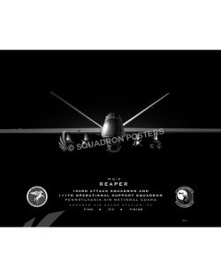 MQ-9 103 ATKS – 111 OSS Jet Black Lithograph Jet Black MQ-9 Horsham AGS 103d ATKS 111th OSS SP01375-FEAT-jet-black-aircraft-lithograph