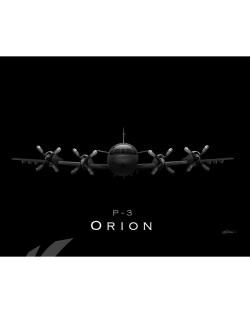 Jet Black P-3 Orion SP00858-FEAT-jet-black-aircraft-lithograph