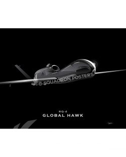 RQ-4 Jet Black Lithograph Jet Black RQ-4 GENERIC SP01302-FEAT-jet-black-aircraft-lithograph-art