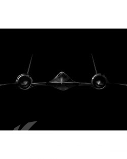 SR-71 Jet Black Lithograph Jet Black SR-71 Blackbird SP01347-FEAT-jet-black-aircraft-lithograph-art