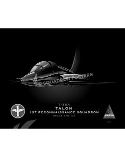 T-38A 1st RS Jet Black Lithograph jet-black-t-38a-1st-rs-sp01216-feat-jet-black-aircraft-lithograph-art