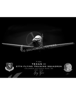 Jet Black T-6 Texan Columbus AFB 37th FTS SP01087-FEAT-jet-black-aircraft-lithograph