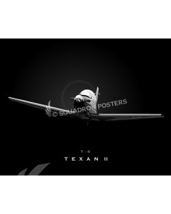 Jet Black T-6 texan II SP00775-FEAT-jet-black-aircraft-lithograph