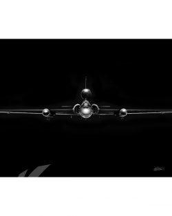 U-2 Dragon Lady Jet Black Lithograph Jet Black U-2 SP01348-FEAT-jet-black-aircraft-lithograph-art