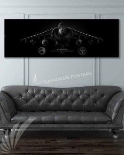 AV-8B VMAT-203 Jet Black Super Wide Canvas Print Jet_Black_AV-8B_mod_60x20_SP01432-military-air-force-aviation-artwork-poster-jet-black-litho