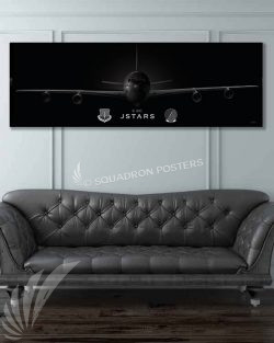 Jet_Black_E-8C_JSTARS_16_ACCS_60x20_Max_Shirkov_SP01548military-air-force-aviation-artwork-poster-jet-black-litho