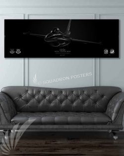 F-16 187th FW Jet Black Jet_Black_F-16_Viper_100th_Fighter_SQ_60x20_SP01259-military-air-force-aviation-artwork-poster-jet-black-litho-art