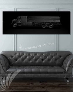 Fuel Truck Jet Black Super Wide Canvas Print Jet_Black_Fuel_Truck_60x20_SP01459-military-air-force-aviation-artwork-poster-jet-black-litho