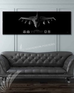 F-16 Tiger AMU Jet Black Super Wide Canvas Print
