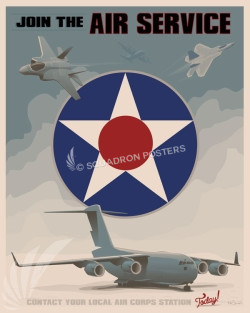 Join the air service v3 SP00673 feature-vintage-print