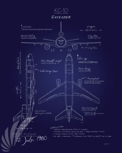 KC-10_Extender_Blueprint_SP01079-featured-aircraft-lithograph-vintage-airplane-poster-art