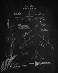 kc-135_stratotanker_blackboard_blueprint_sp01139-featured-aircraft-lithograph-vintage-airplane-poster-art