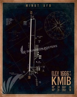 Minot AFB KMIB Airfield Map Art KMIB_Minot_AFB_Airfield_Art_SP01448-featured-aircraft-lithograph-vintage-airplane-poster-art