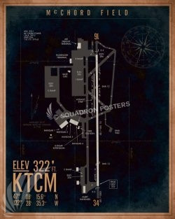 McChord AFB KTCM Airfield Map Art KTCM_McChord_AFB_Airfield_Art_SP01364-featured-aircraft-lithograph-vintage-airplane-poster-art