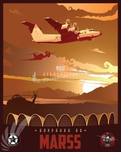 Kandahar Airfield MARSS Kandahar_Dash_7_Marss_SP01274-featured-aircraft-lithograph-vintage-airplane-poster-art