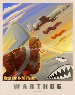 Keep A10 Flying SP00596-vintage-military-aviation-travel-poster-art-print-gift