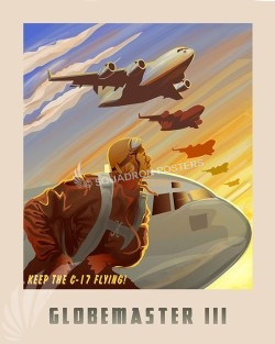 Keep C-17 Flying SP00619-vintage-military-aviation-travel-poster-art-print-gift